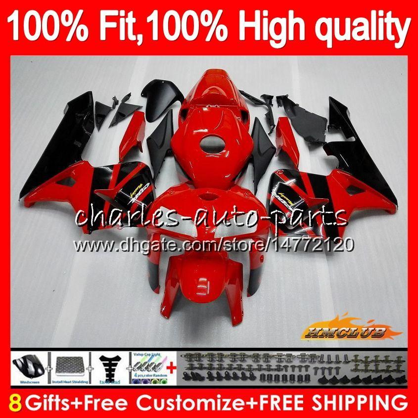 HONDA CBR600RR CBR600 RR 2005 2006 80HC.8 CBR600F5 CBR 600F5 600RR 05 06 CBR 600 RR에 대한 사출 금형 F5 05 06 빨간색 공장 새로운 페어링 OEM