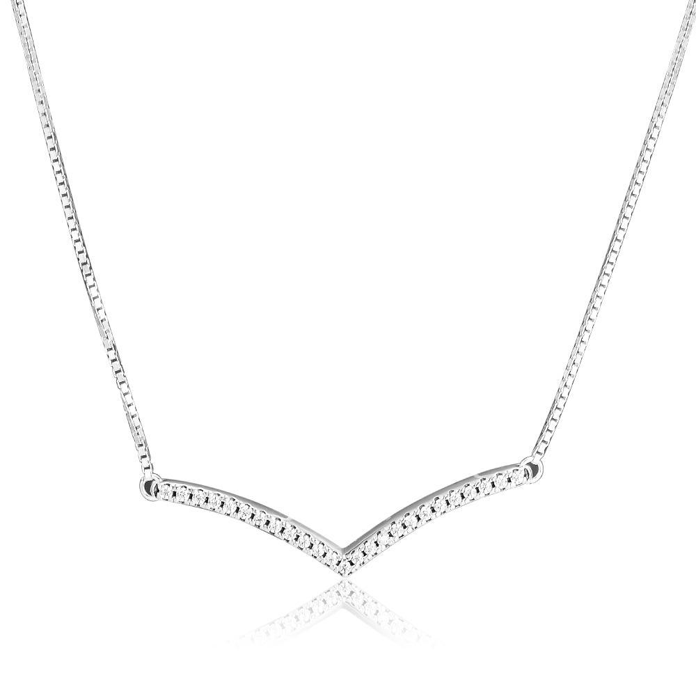 Shimmering collana pendente gioielli Sterling Silver fabbricazione dei monili di modo della collana fai da te per la donna