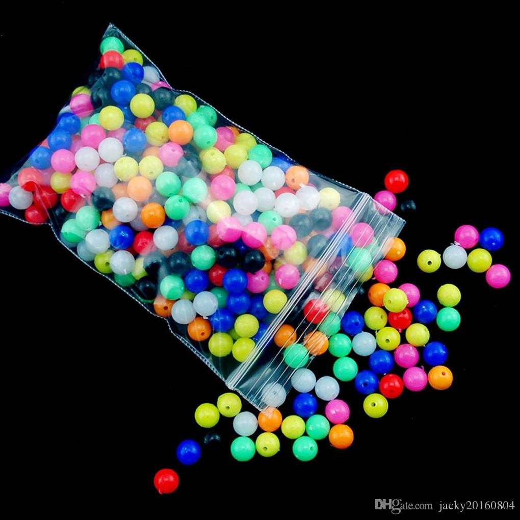 100Pcs/lot 6mm/8mm. Round Luminous Glow Rig Beads Sea Fishing Lure Floating Float Tackles