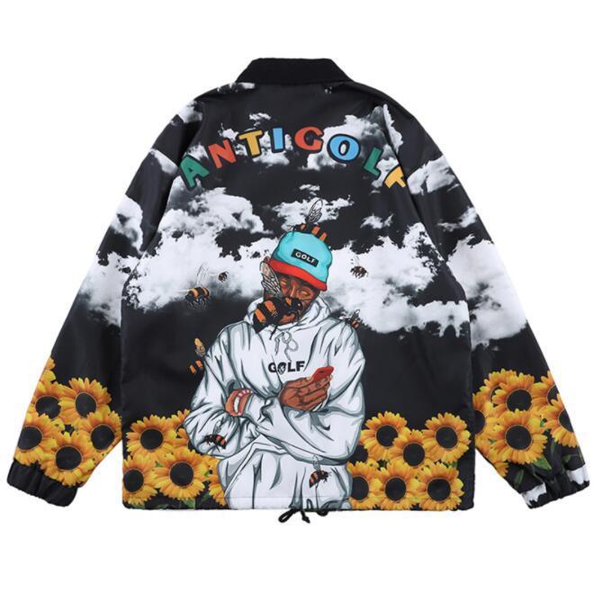 Erkek Tasarımcı Ceketler Ceket Moda Marka Kapüşonlu Ceket Erkekler Için Rüzgarlık Desenler Ile Kış Amerika Tarzı Mens Üstleri 2 Renk Isteğe Bağlı