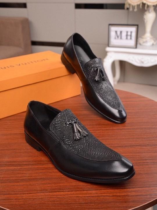 affaires de la mode casual en cuir de mode de Glands hommes italiens chaussures habillées 021001