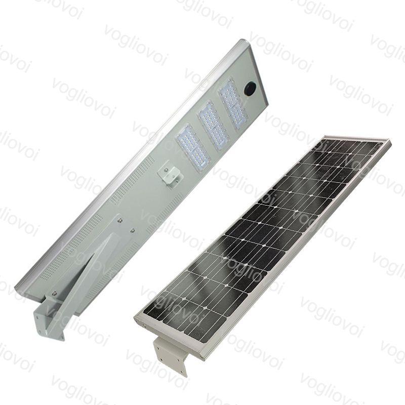 أضواء الأمن الشمسية استشعار الحركة ضوء الشارع 40W 50W 60W LED للماء IP65 متكاملة الألومنيوم الدافئة الأبيض للخارجية حديقة بارك الطريق دي إتش إل دي إتش إل