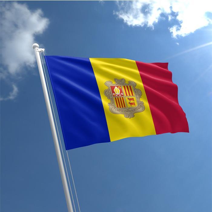 Bandera de Andorra 3x5ft Impreso Digital poliéster Publicidad Banderas banderas al aire libre de uso interior, freeshipping, envío de la gota