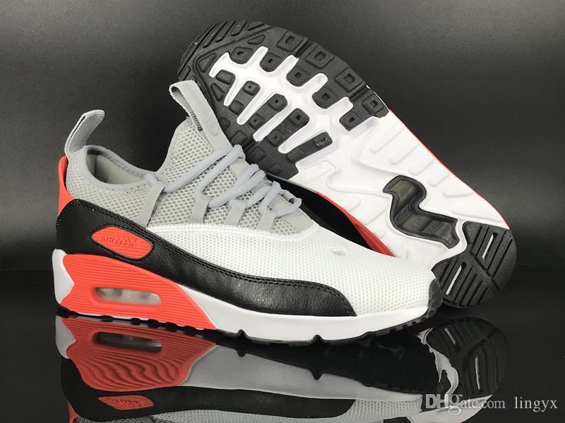 Compre 2019 Nova Chegada Nike Air Max Airmax 90 Ez Retro Clássico Air Running Shoes Mens De Alta Qualidade Rede Preto Branco Azul Ao Ar Livre Tênis