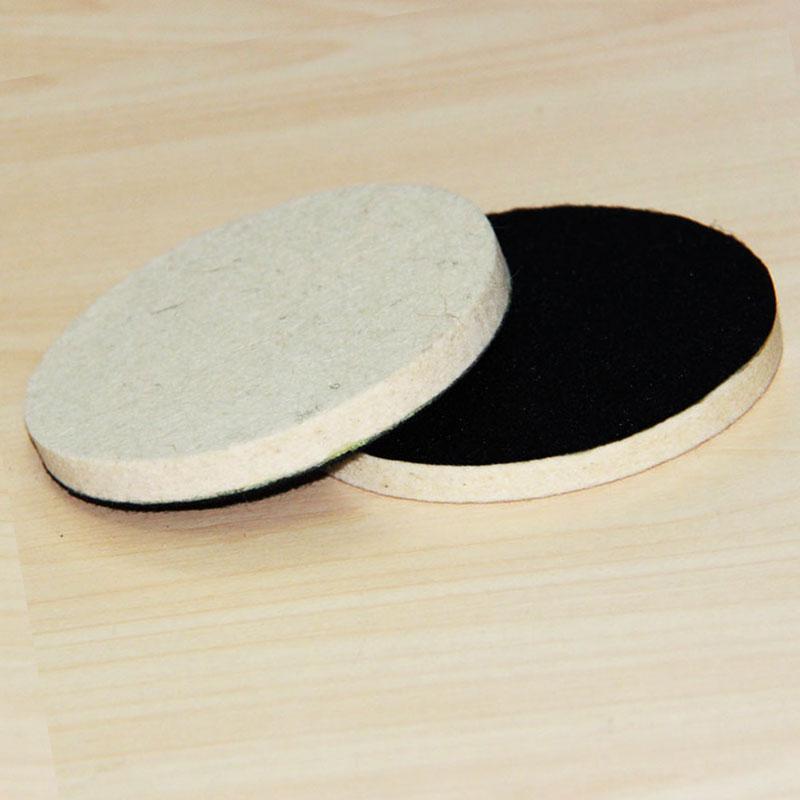 "2 x 4"" 100mm Fine Wool Glass Polish Felt Polishing Wheel Buffing Pad for Metal Marble Glass Ceramics on Sander Grinder"