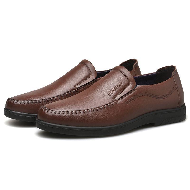calzado transpirable 20202 casual zapatos de los hombres del envío libre de cuero auténtico Fuguiniao perforadas hombres zapatos negro negocio zapatillas de deporte de cuero de vaca
