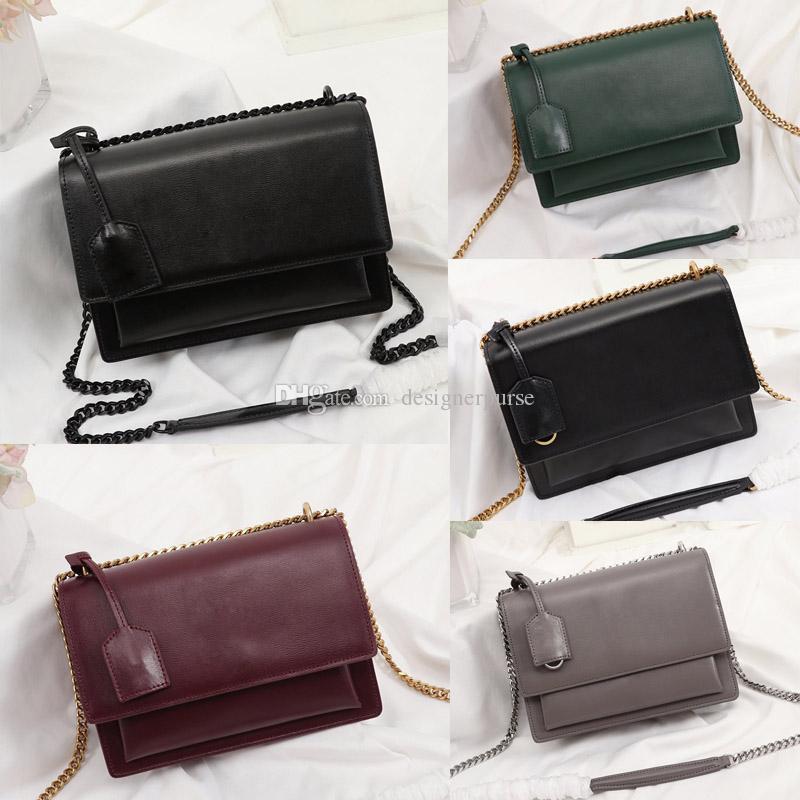 Moda lüks tasarımcı çanta Sunset çanta kadın omuz çantaları tasarımcı crossbody çanta Yüksek kaliteli zincir flep çantası lüks çanta çantalar