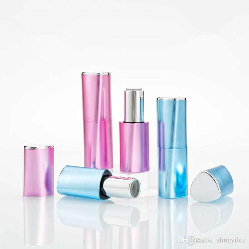 New Pink Blue Color Empty Lipstick Tube Heigh Quality Hot Sale Luxury Women Lip Balm Maquiagem Container Bottles F3526