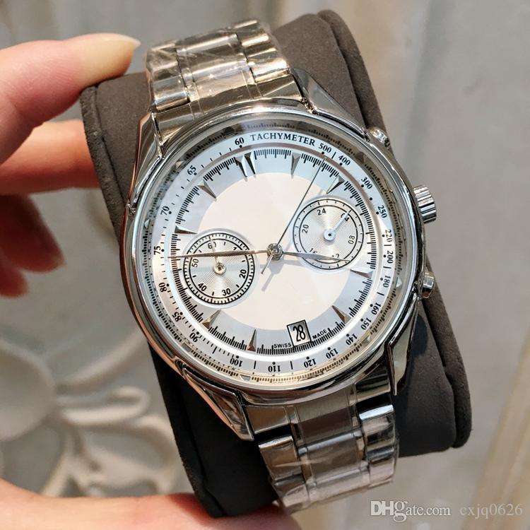 2019 Yeni Moda erkek Gümüş Paslanmaz çelik erkek kol saati marka masa Özel Tasarım En Marka Kuvars toptan eşya fiyat lüks izlemek saatler