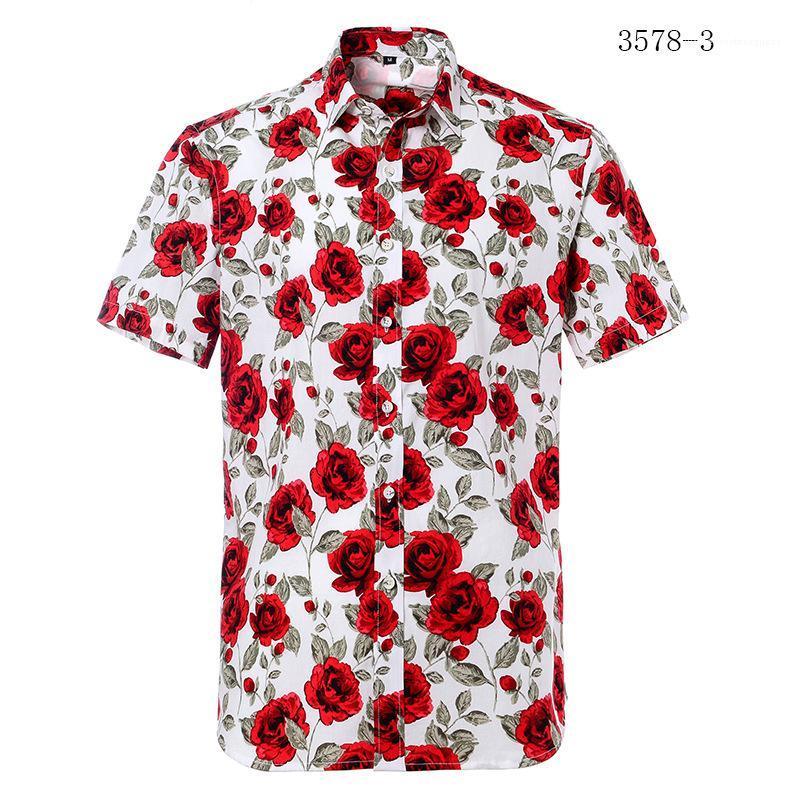 Camicie Estate manica corta girocollo Shirt Print Designer Casual Male chothing Mens 2020 Designer di lusso