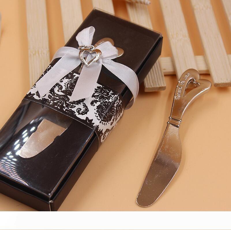 نشر الحب على شكل قلب مقبض على شكل قلب الموزعات الموزعة زبدة السكاكين سكين هدية عرس الحسنات LX7301