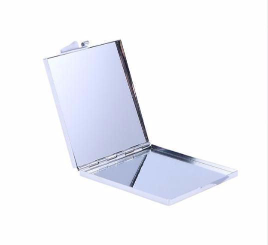 1 pc Portátil Espelho Dobrável Várias Formas de Metal Compacto Espelhos de Viagem Mini Espelho de Bolso Cosmético Ferramentas de Maquiagem