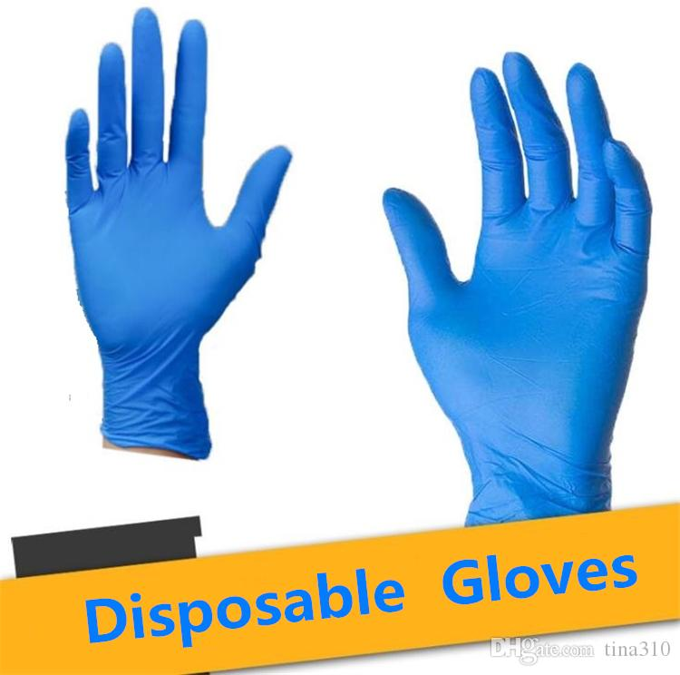 Home Elastic blue / white / black disable gloves environmental protection work gloves household-resistent Cleaning Gloves 7049