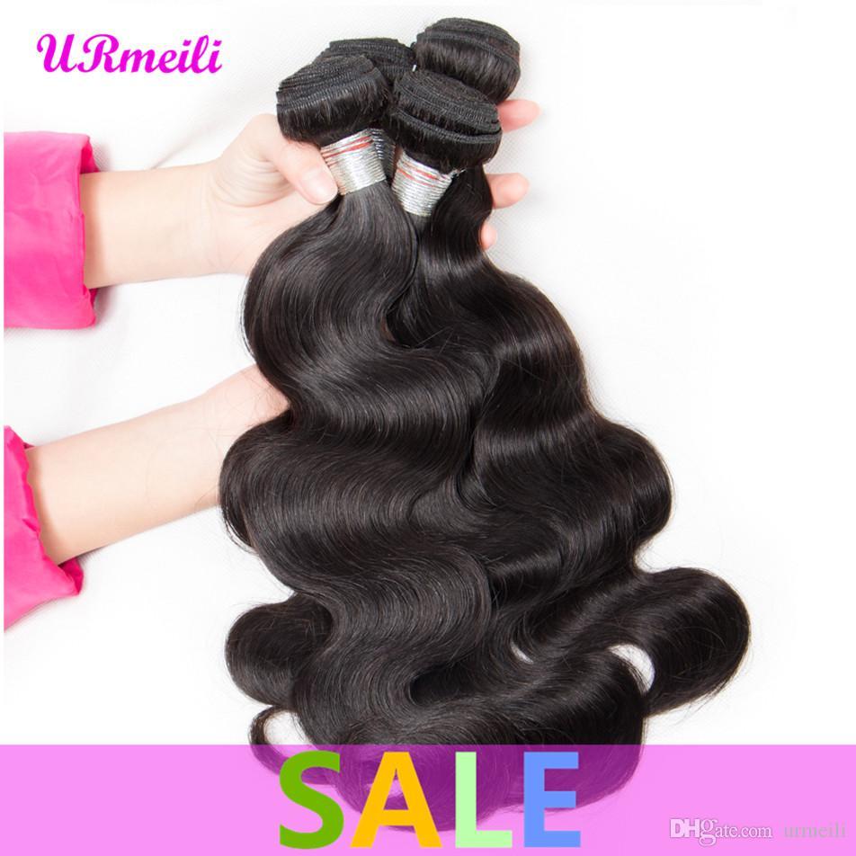 البرازيلي الجسم موجة الشعر حزم 100٪ الإنسان نسج الشعر اللون الطبيعي URmeili نسج رخيصة الإنسان الشعر حزم 8-32 بوصة يمكن شراء 3 / 4PCS