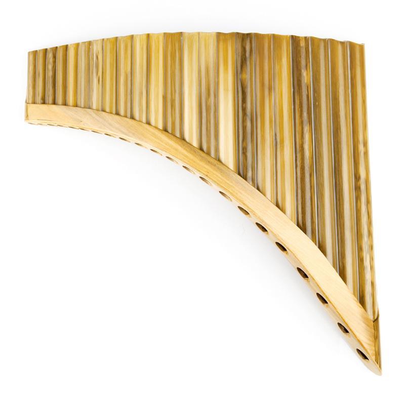 Bambu Pan Flüt G Anahtar Yüksek Kalite Bambu Pan Borular Ahşap Enstrüman Bambu Pan flüt Benekli müzik aleti 22 Borular yapılan