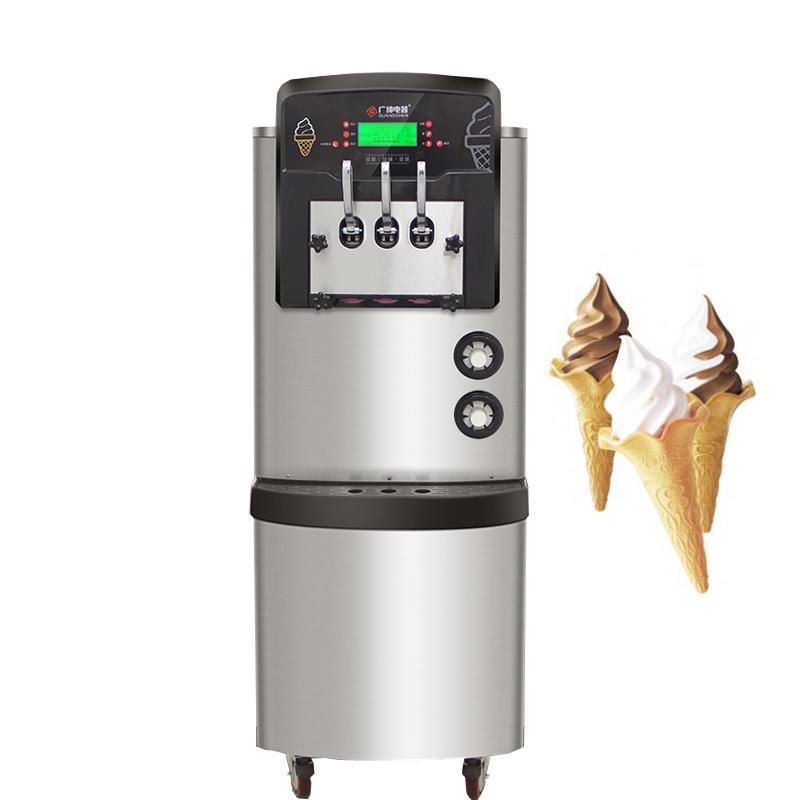 Faible coût vente de trois saveur machine à crème glacée molle automatique en acier inoxydable crème glacée molle commerciale de haute qualité machine de fabrication
