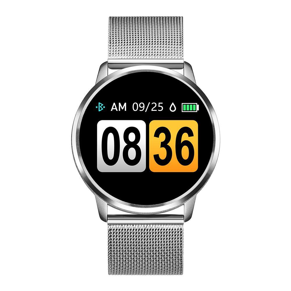 Q8 الذكية ووتش OLED شاشة ملونة النساء ساعة ذكية رصد الأزياء للياقة البدنية المقتفي معدل ضربات القلب