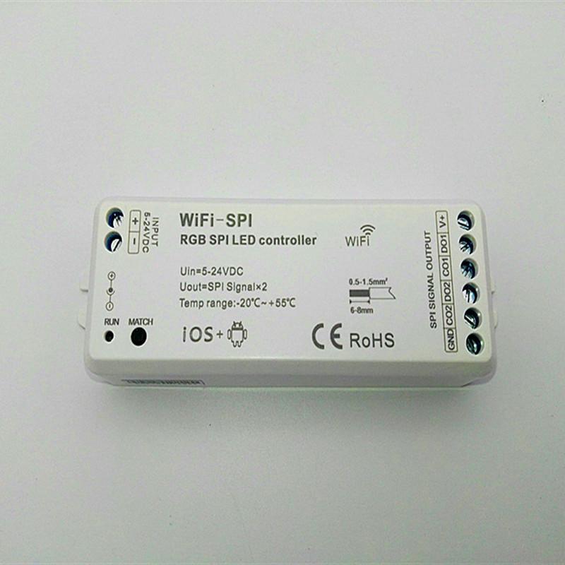 DC5V-24V RGB SPI WiFi SPI LED Pixel Strip Controller Support WS2811 WS2812B TM1809 TM1812 LPD6803 WS2801 UCS1903 TLS3001 IC