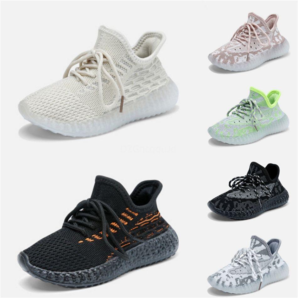 20202020 Kanye West arcilla infantil del niño de 72 niños de los zapatos corrientes estáticas Gid Chaussure De Sport Pour Enfant Niño Niña Traine casual # 622