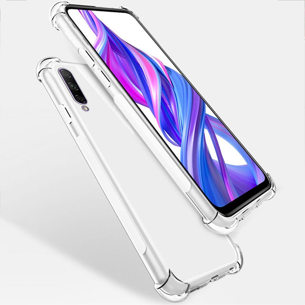 Nouveau Aux quatre coins de luxe cas clair de téléphone coussin d'air pour huawei P30 Lite P30 pro silicone souple couverture arrière Coque