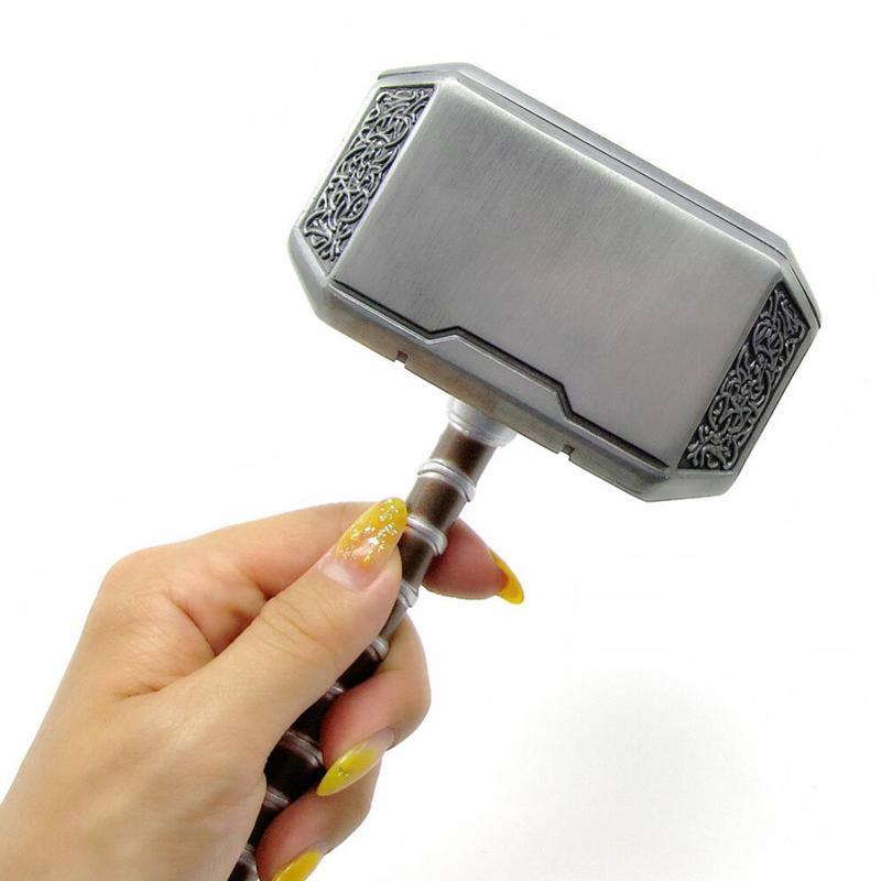 El temblor armas Final de partida de metal Thor Hammer Modelo Cosplay Apoyos Modelo Decoración de juguete 1: 1 Abs Arma plástico