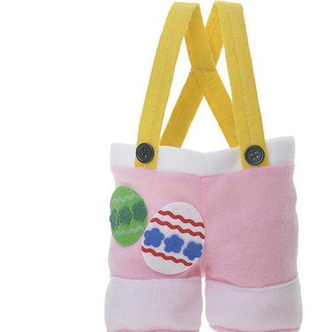 3 couleurs de lapin de Pâques Sacs de lapin Queue de Pâques Lapin Panier Pantalons-comme Sac Egg Candies Paniers Pantalons de type non-tissé sac cadeau DHL AN3125