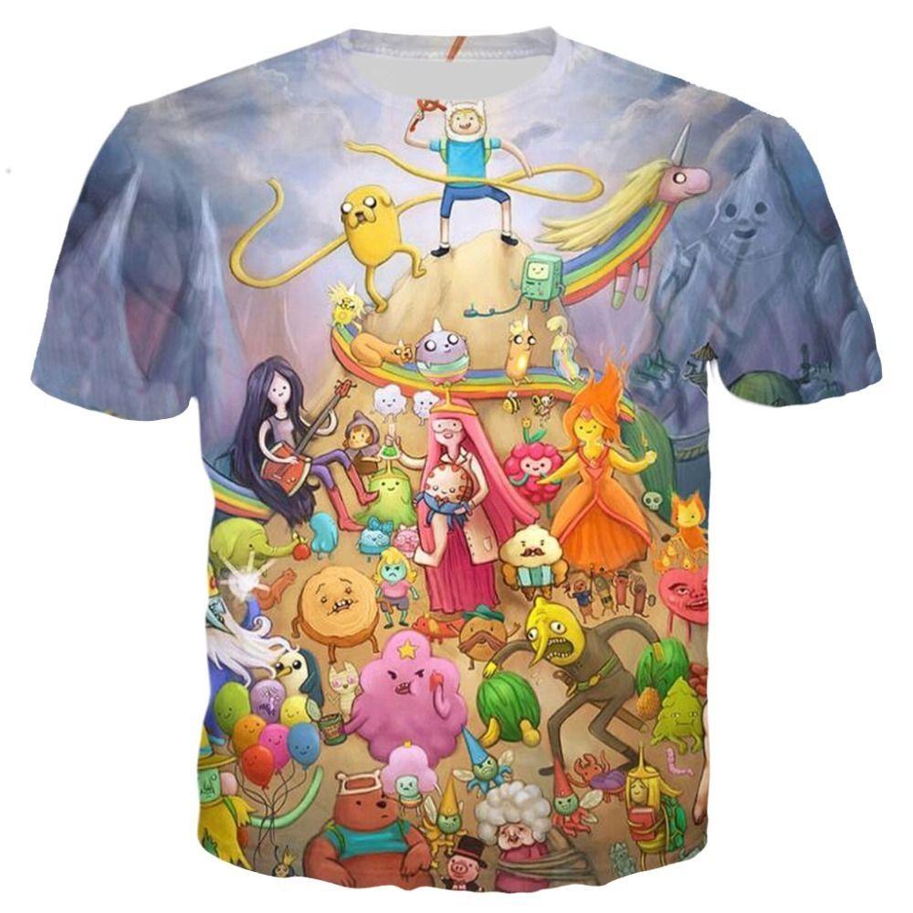 Plstar كوزموس مغامرة التوقيت t-shirt الشخصيات تي شيرت النساء الرجال 3d طباعة الجرافيك تيز أزياء الصيف الزى الملابس S-5xl Y190509