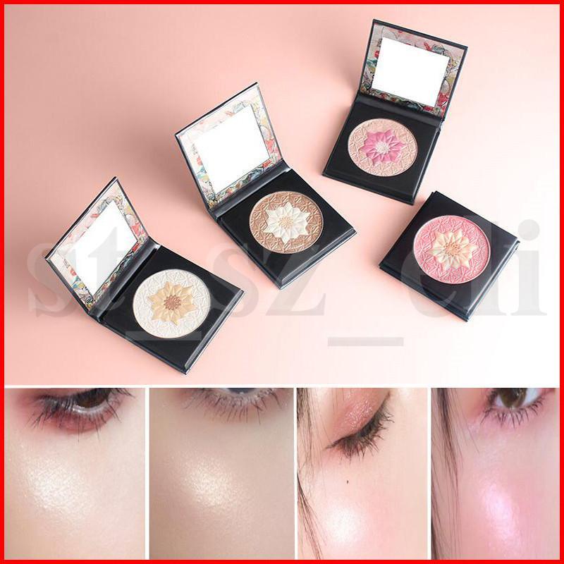 Gezicht make-up bloem glanzende highlighters bronzers poeder glitter oogschaduw markering poeder gezicht trimmen en opvrolijken poeder
