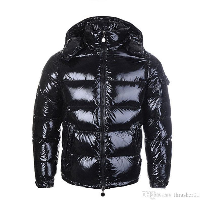 Chaqueta de lujo Parka Hombres Mujeres Classic Casual chaqueta abajo abrigos para hombre caliente al aire libre de la chaqueta de plumas capa del invierno Outwear Doudoune Homme unisex