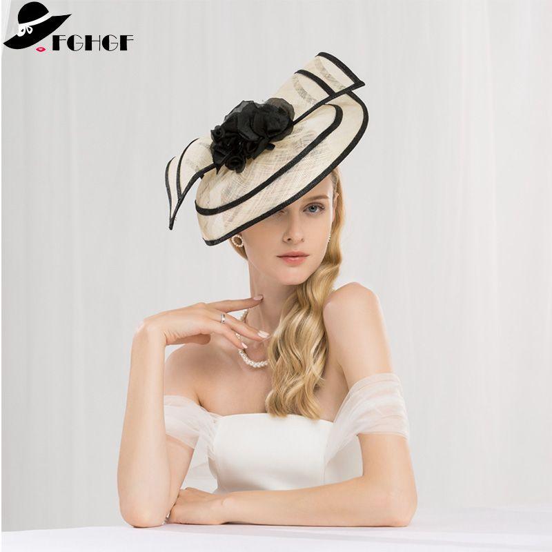 Sinamay Gözyaşı Fascinators Kafa Şapkalar Derby Yarış Şapka Düğün Parti Şapkaları