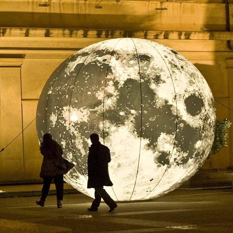 شحن مجاني 3M القطر غلوب البالونات أكسفورد القماش نفخ القمر النماذج، ونفخ الأرض نموذج قابل للنفخ القمر نموذج لمعرض