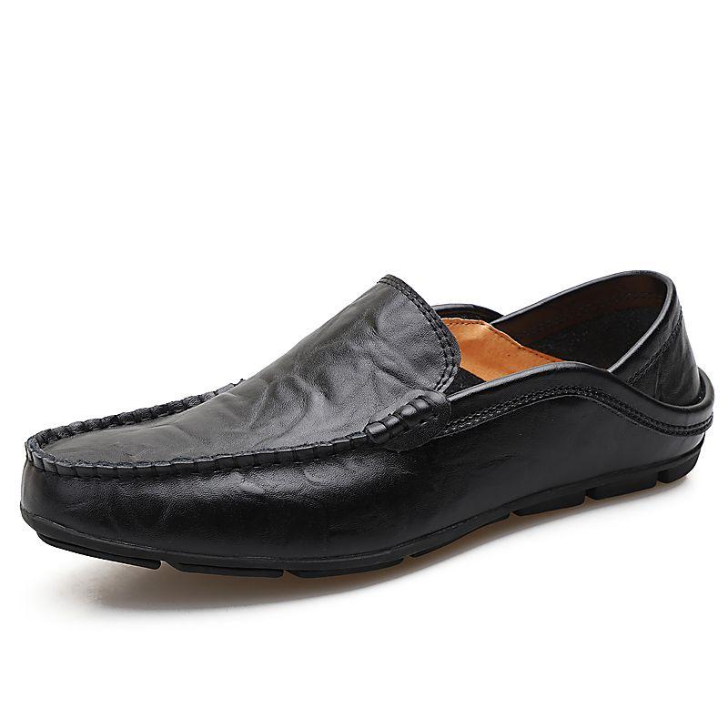 24 styls couro genuíno Designer Luxo calçados casuais lace-up ou Slip-On terno vestido sapato sapatos masculinos respiração dirigindo o carro Shoes frete grátis