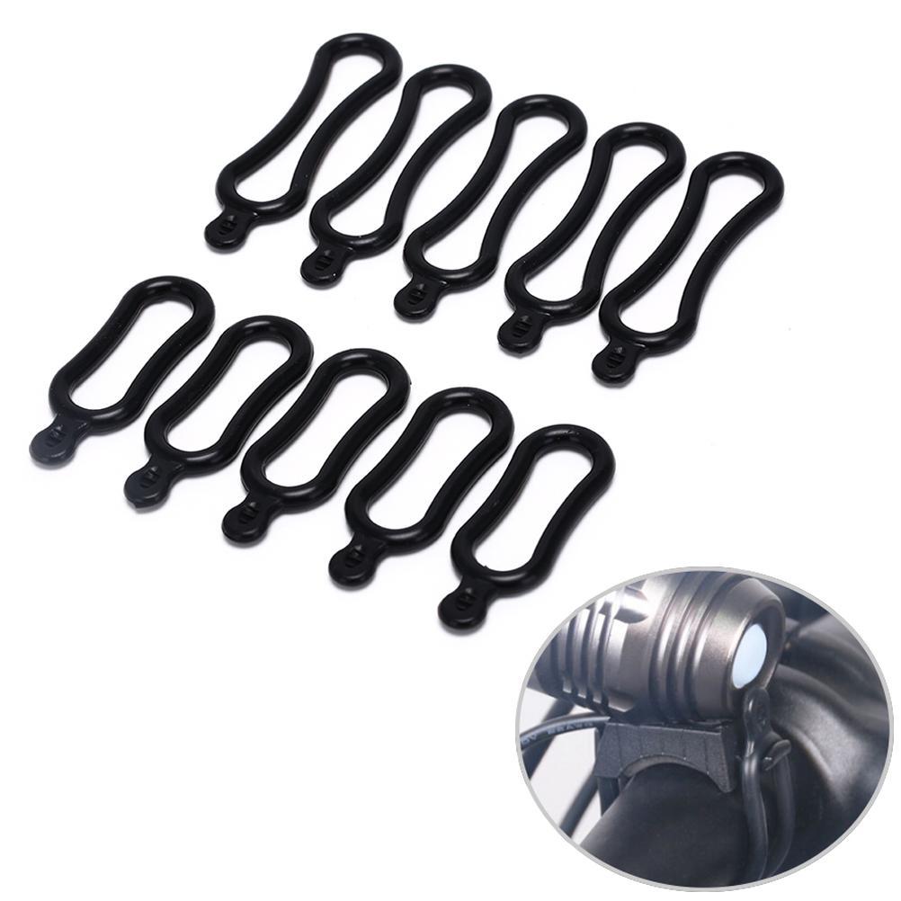 10x kit de sellado de goma O-ring para instalación de faros de luz de bicicleta