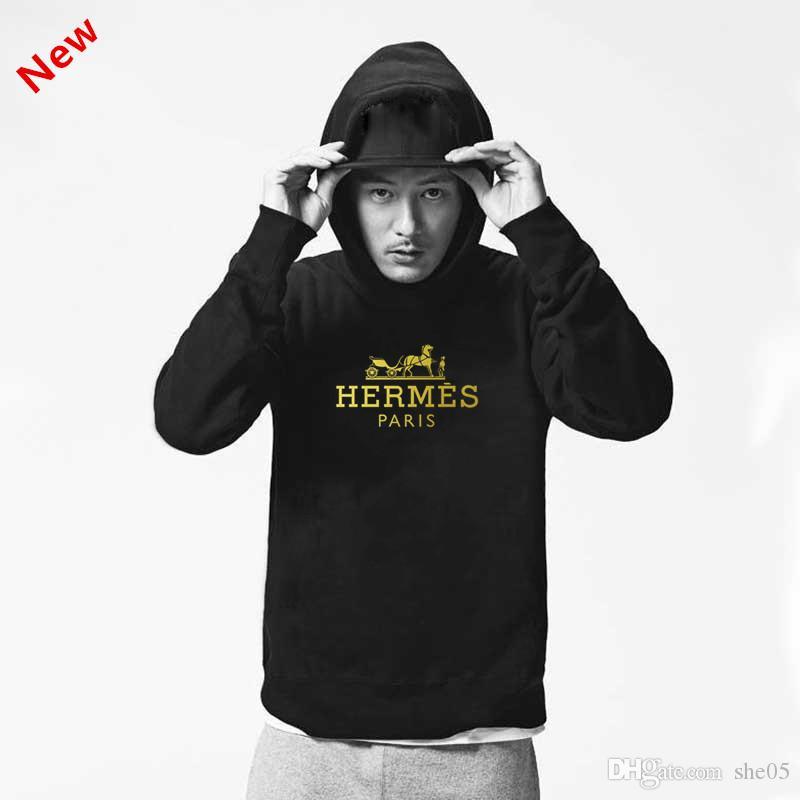 design de luxe marque Hommes Hoodies Rue Hip Hop manches à capuche Femmes Hommes Pulls U2Hermès