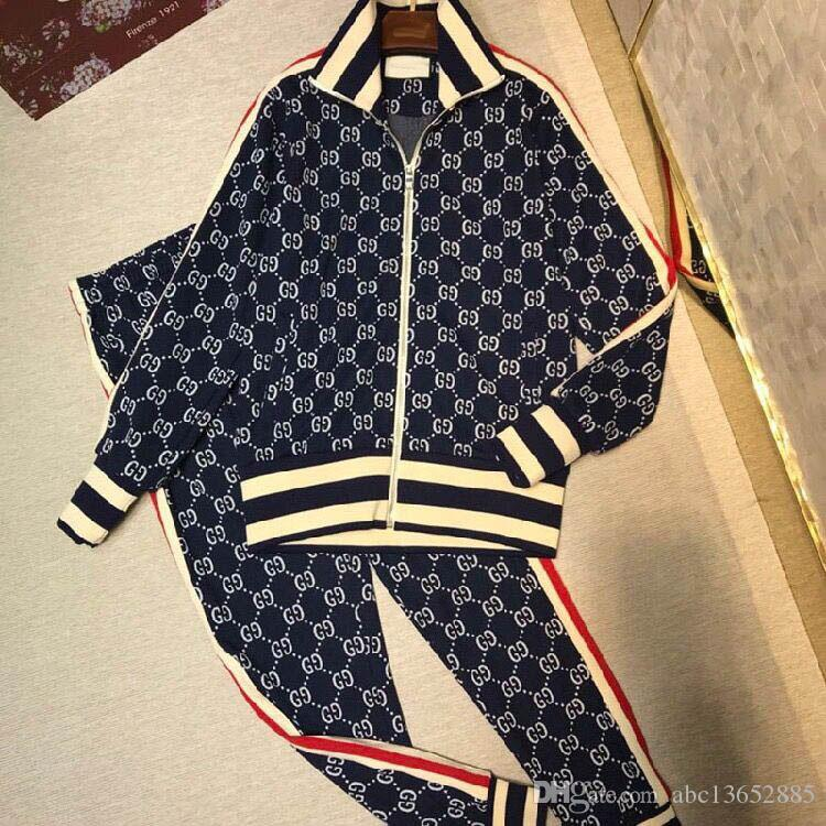 2018Fashion 디자이너 남자의 운동복 한 벌 편지 printing 남자의 한 벌 sportswear 운동복 한 벌 남자 재킷 재킷 casual sweatshirt