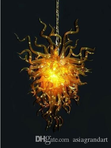 100٪ الفم في مهب CE UL البورسليكات زجاج مورانو كيلي دايل الفن العنبر الزجاج قلادة غريبة مصابيح
