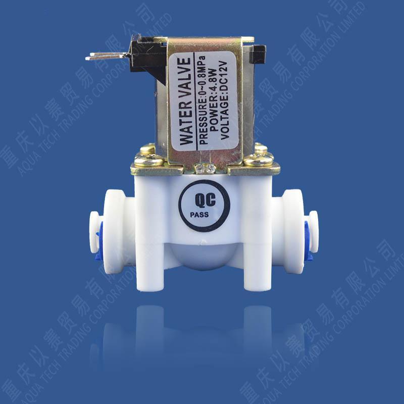 Acqua Valvole DC12V DC24V di plastica della valvola elettromagnetica normalmente chiusa Elettrovalvola 24V a 12V Plug rapida Depuratori d'acqua della valvola di ingresso 0.8MPa