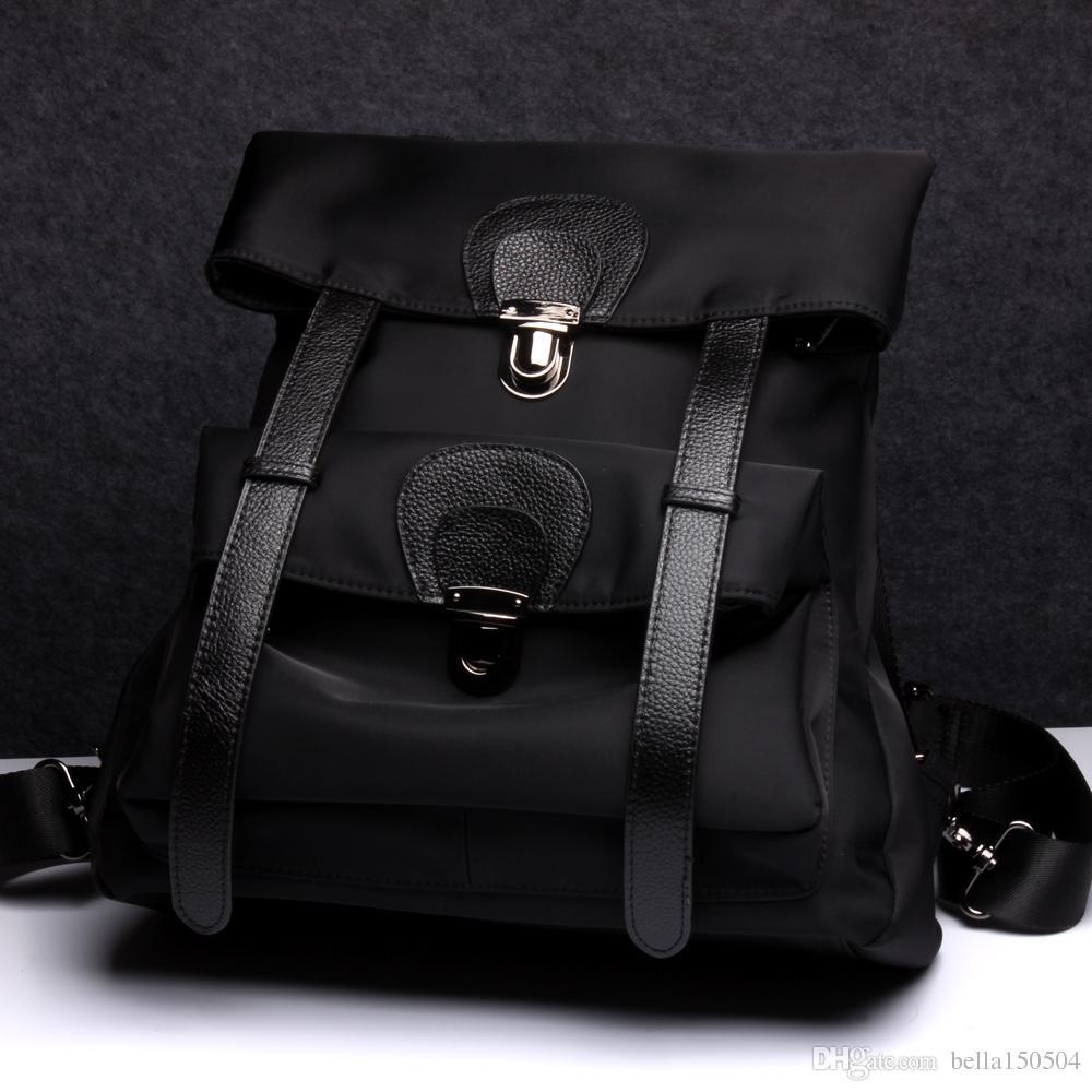 Atacado-Designer de Alta Qualidade mochila de Couro Genuíno Das Mulheres Meninas Grande capacidade mochilas de lona Bolsas De Luxo Famosos Marcas sacos