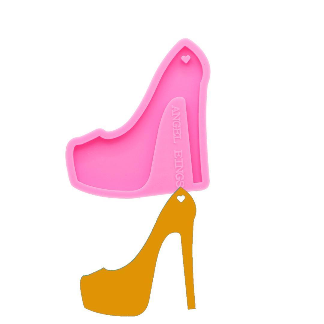 Блестящие брелки высокие каблуки силиконовые формы DIY обувь ювелирные изделия брелок плесень эпоксидная смола плесень на заказ