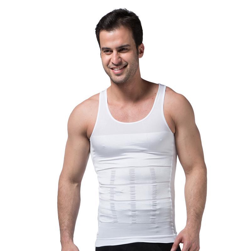 Homens Colete Camisola Body Shaper Undershirt Homens Bodybuilding Slim Apertado Bodysuit Croset Treinamento Abdômen Compressão Singlet