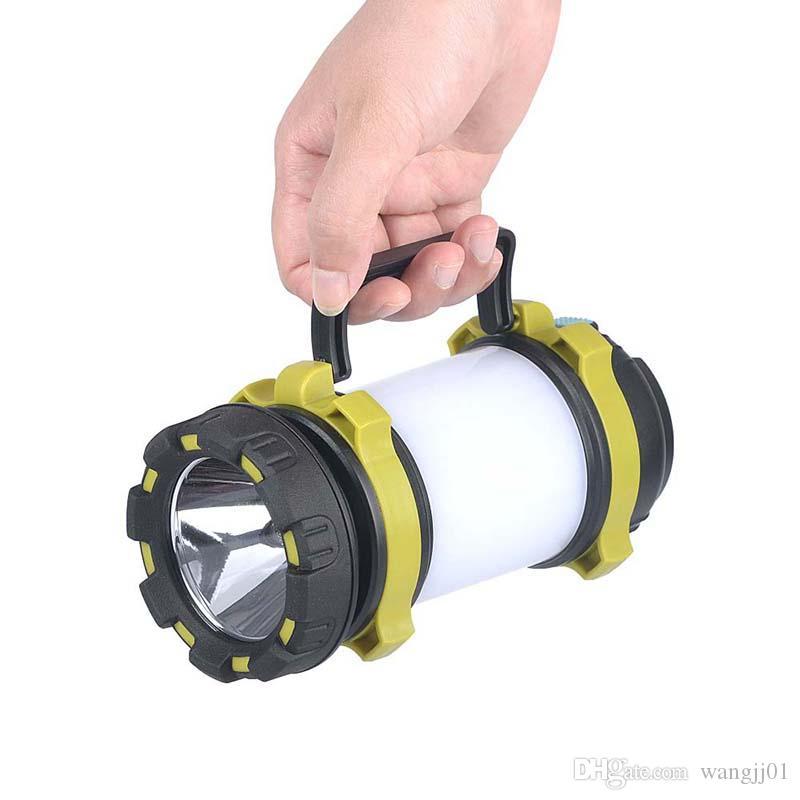مخيم مصباح LED التخييم الخفيفة USB قابلة للشحن المصباح عكس الضوء أضواء العمل للماء الخفيف الكشاف الشعلة الطوارئ