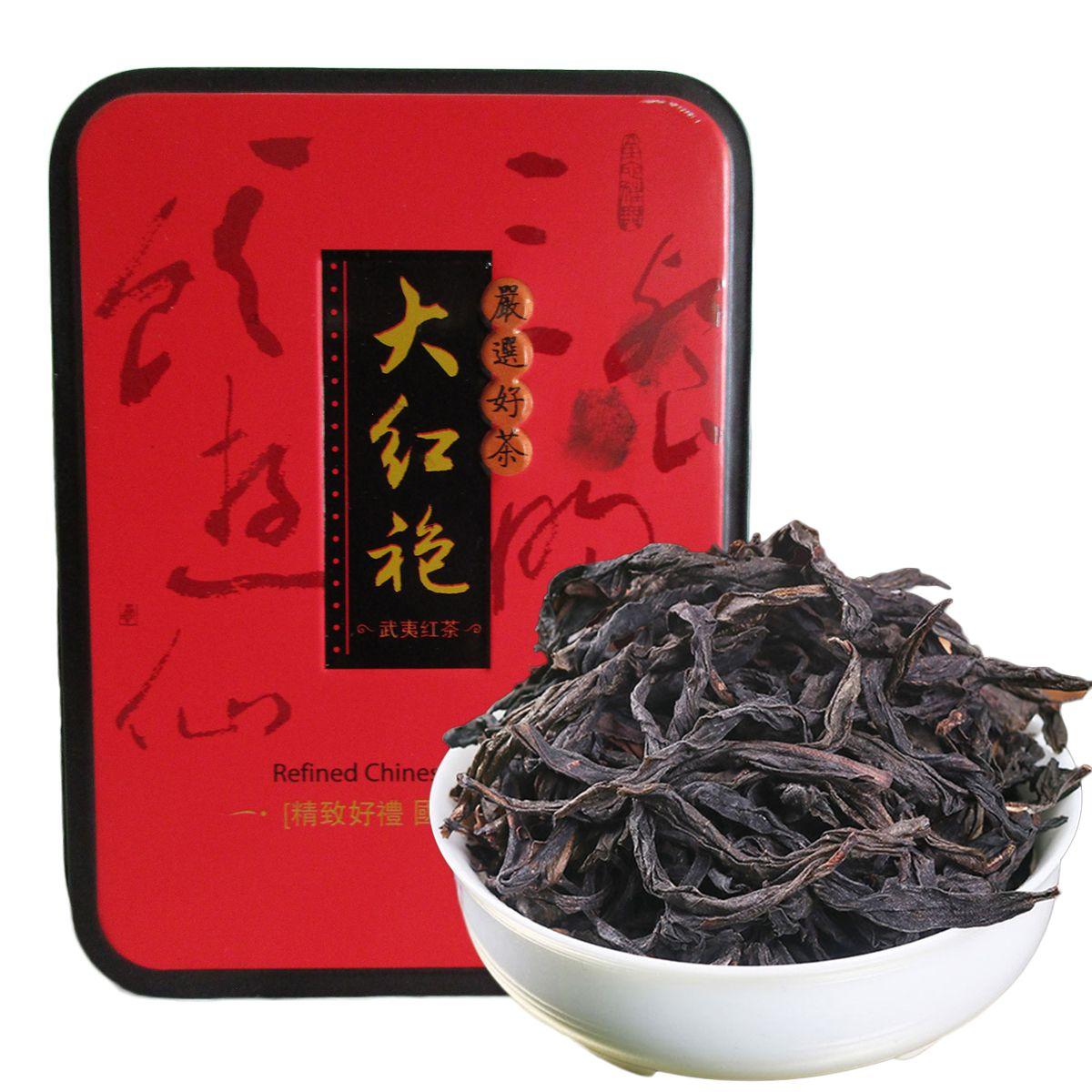 104g Çin Organik Siyah Çay Big Red Robe Dahongpao Oolong Kırmızı Çay Sağlık Yeni Pişmiş çay Yeşil Gıda hediye kutusu ambalaj