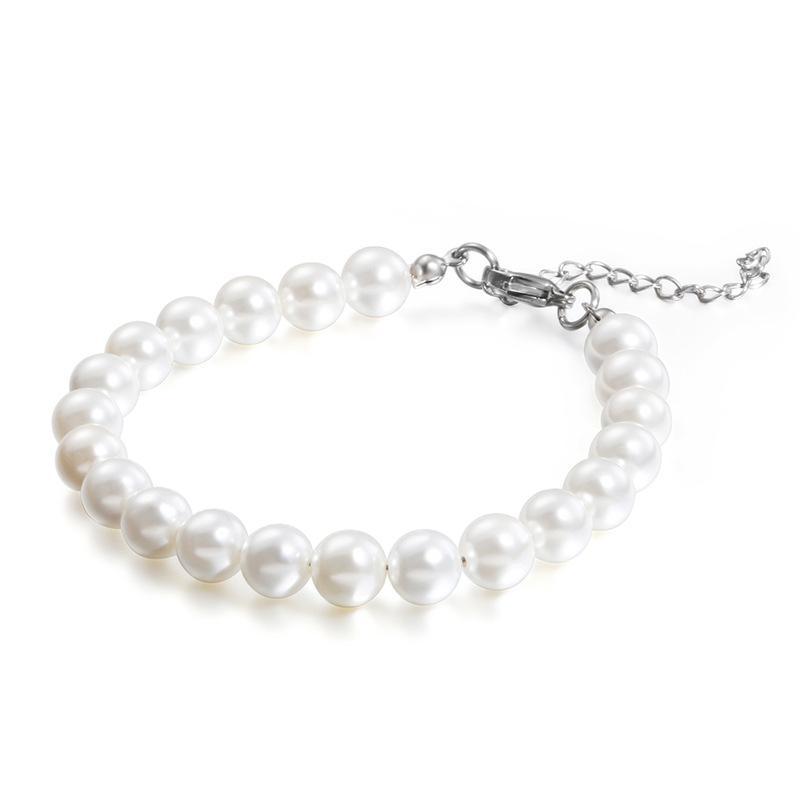 Mode Perlen Armbänder Edelstahl-runde Korn-Armband-Schmucksachen für Frauen