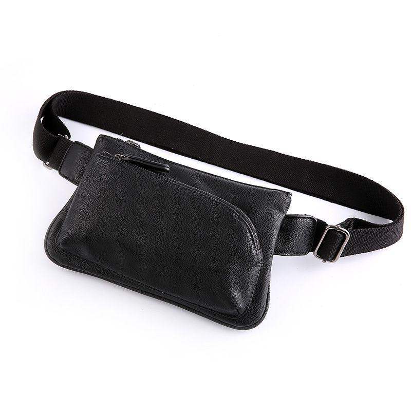 Men Vintage Leather Fanny Pack Waist Bag Travel Hiking Phone Purse Wallet Pouch
