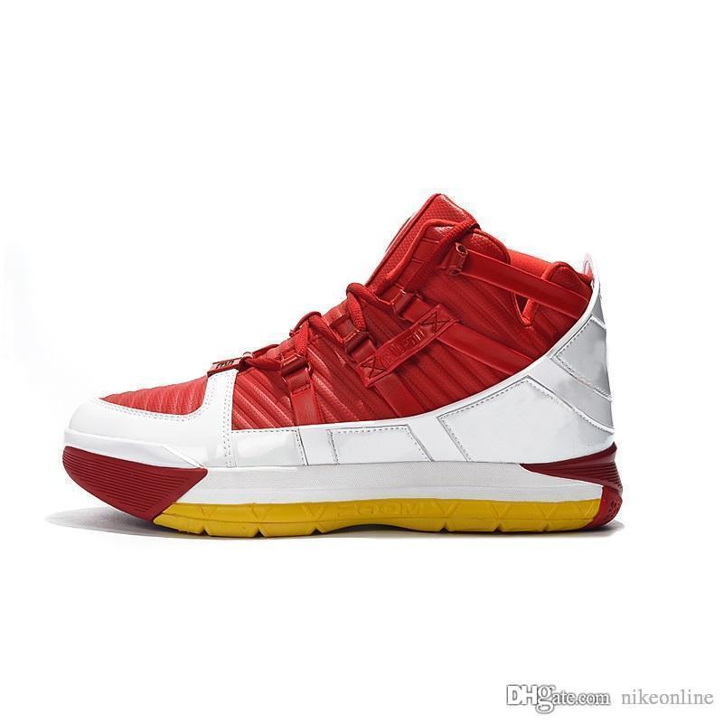 Nouveau lebron 16 chaussures de basket pas cher Rouge Blanc Jaune Noir Peau de serpent Glow Classic high tops jeunes enfants Lebrons 3 baskets bottes avec boîte