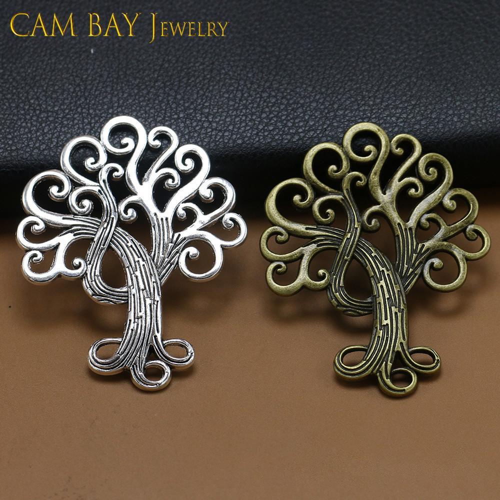 30шт NEW 74 * 58mm Big Hollow Peace дерево Подвески металлические подвески для DIY Ожерелье Браслеты Изготовление ювелирных изделий ручной работы Crafts