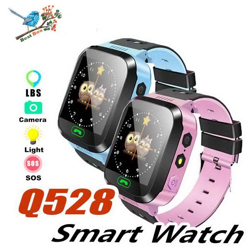 Q528 Montre intelligente pour enfants Bracelet intelligent LBS Tracker SOS avec lumière Anti-bracelet perdu avec caméra SIM pour Android dans la boîte