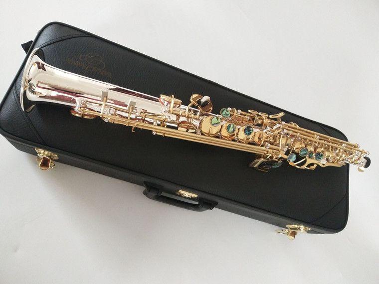 Nuovo professionale d'argento Sax Soprano Giappone Yanagisawa S-992 B (B) Ottone Soprano strumenti musicali con il caso