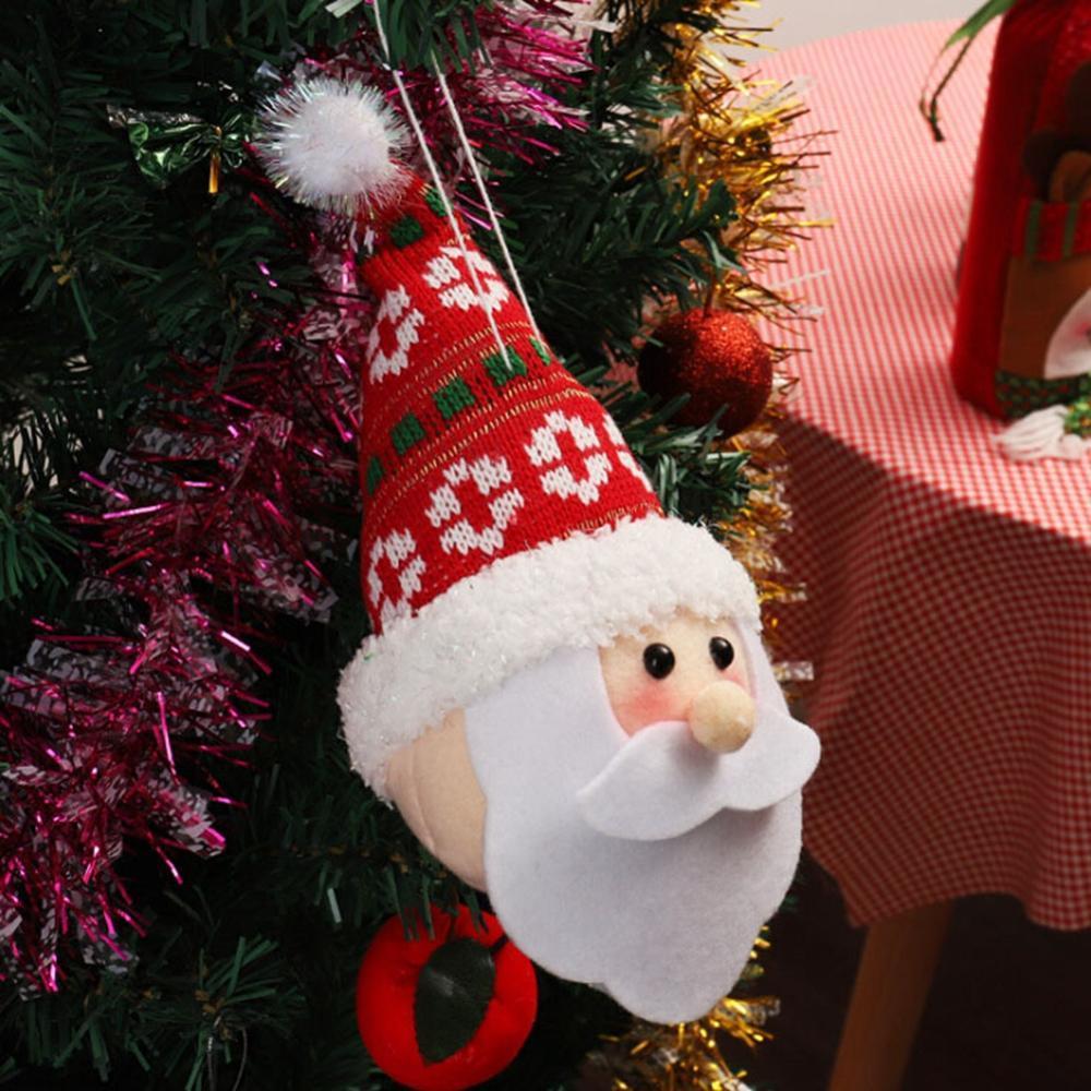 Papai Noel tridimensional pequena Hanging Tree Decoração do boneco de neve Decoração de Natal Props Natal New Qgnv