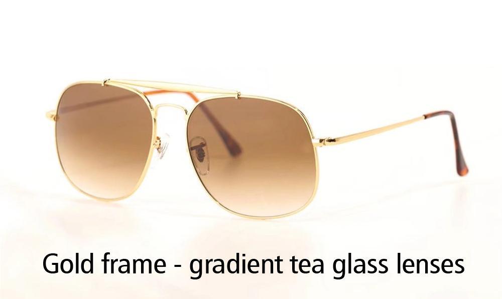 Wholesale-Metal Frame uv400 Glass Lenses Sunglasses Women Men Brand Designer Eyewear Driving Sun Glasses With Retail box and label